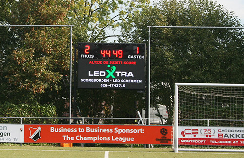 LedXtra - LED Displays - Digitaal LED Scoreboard