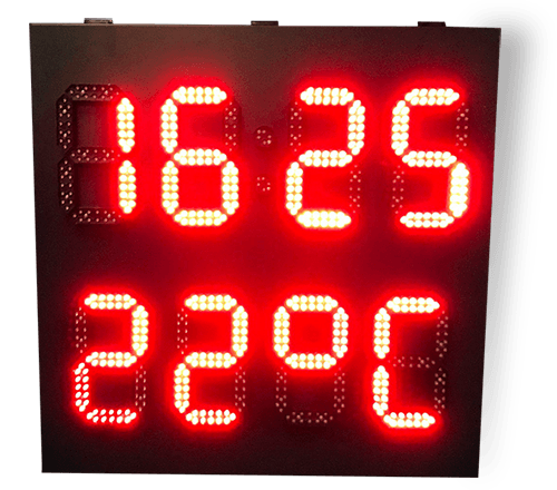 LedXtra - LED Displays - Tijd-enTemperatuur - vrijstaand