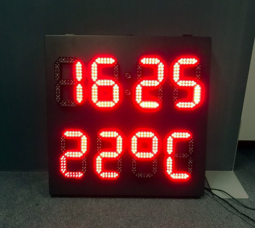 LedXtra - LED Displays - Tijd-enTemperatuur